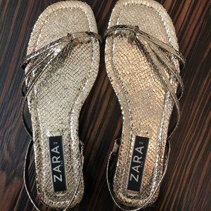Zara Gold Strap Sandal Shoes